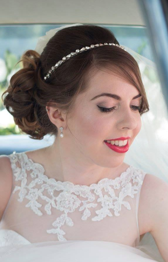 Vintage Bride, Red Lipstick and Flicked Eyeliner