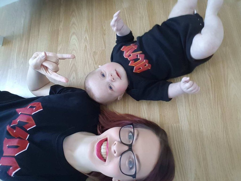 AC/DC band t-shirts for baby and mummy or daddy, from Little Rock Store