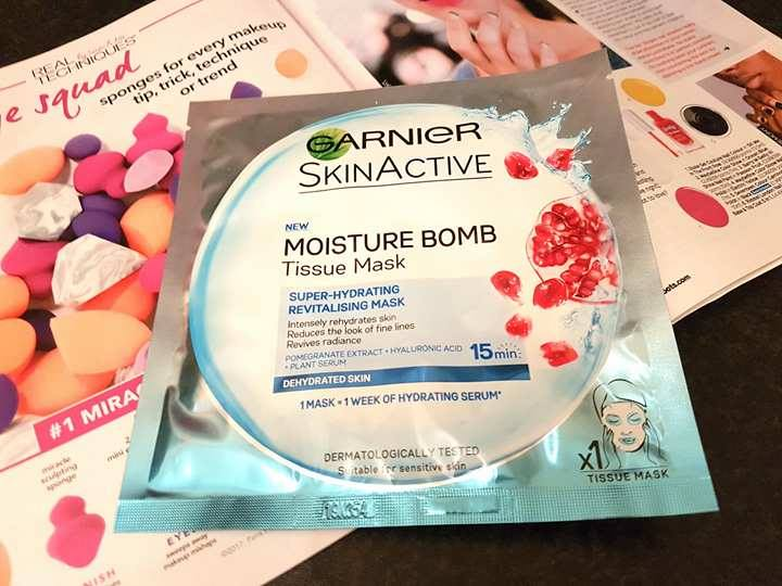 Garnier Moisture Bomb Tissue Mask Packaging