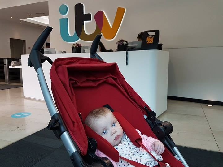Baby Autumn at reception in ITV