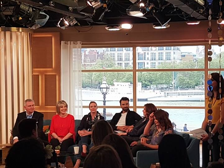 This Morning Presenters Being Interviewed On The Sofa At The This Morning Live Press Launch