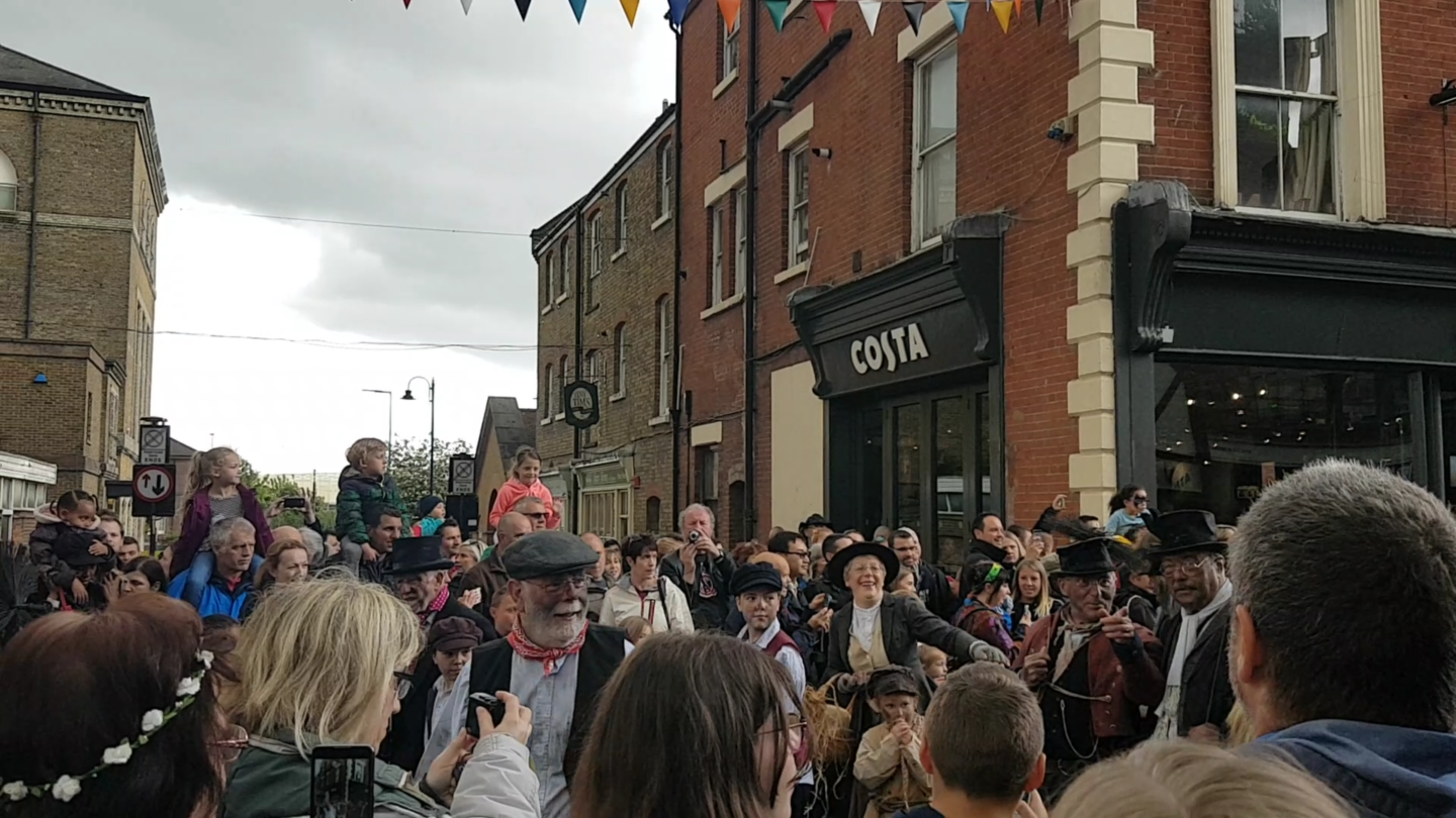 Chimney sweeps at Rochester Sweeps Festival, 2017