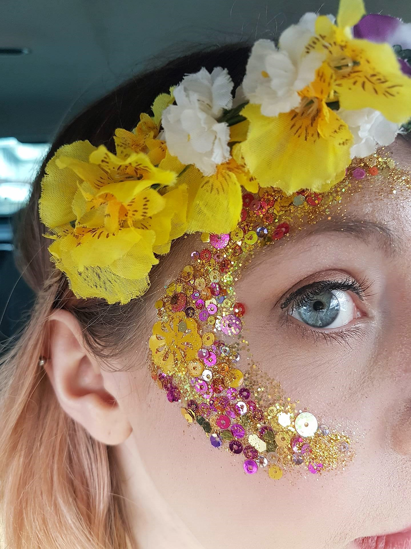 Follies glitter eye at Rochester Sweeps Festival