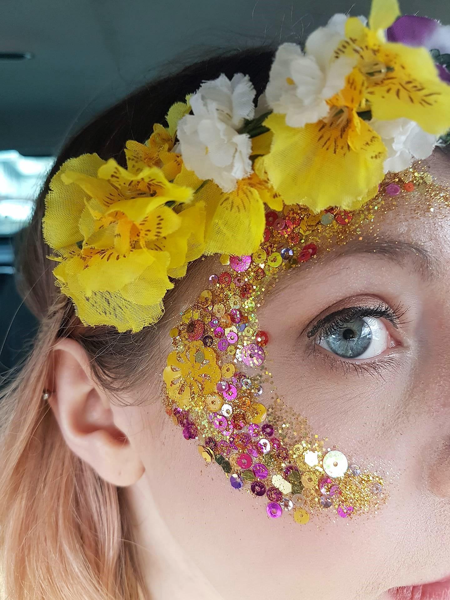 Follies glitter eye at Rochester Sweeps Festival