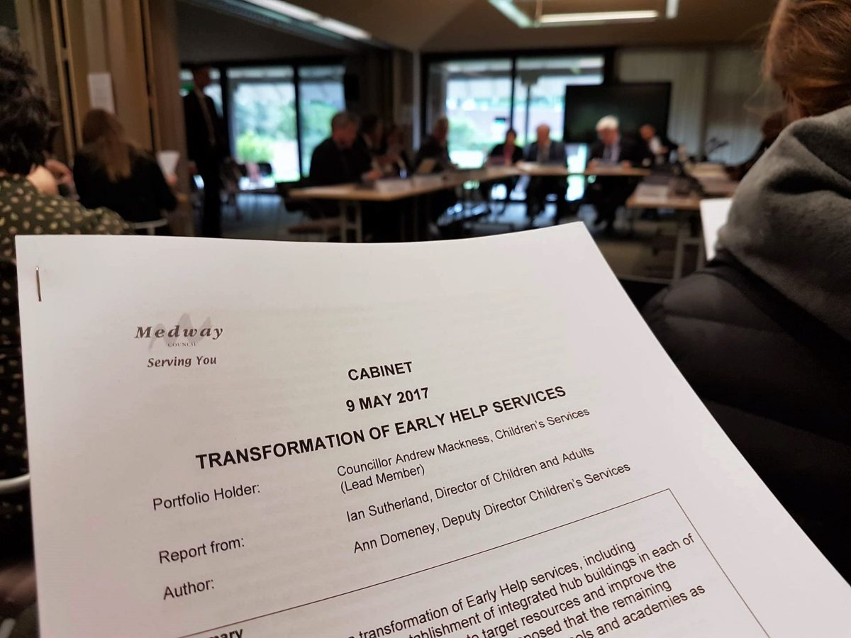Medway Council Cabinet Meeting - Transformation of Early Help Services