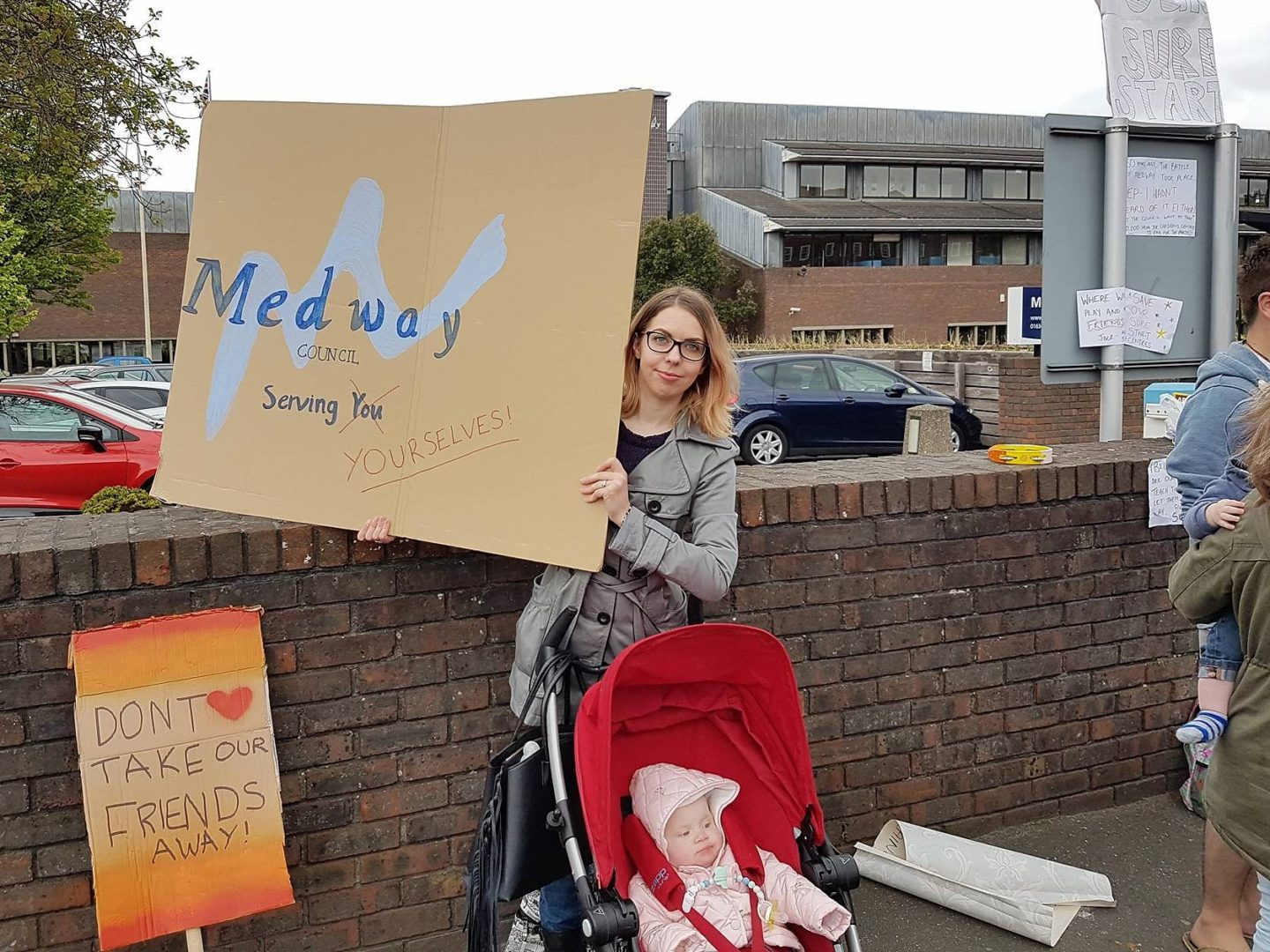 Protest - Medway Council closing Sure Start Centres