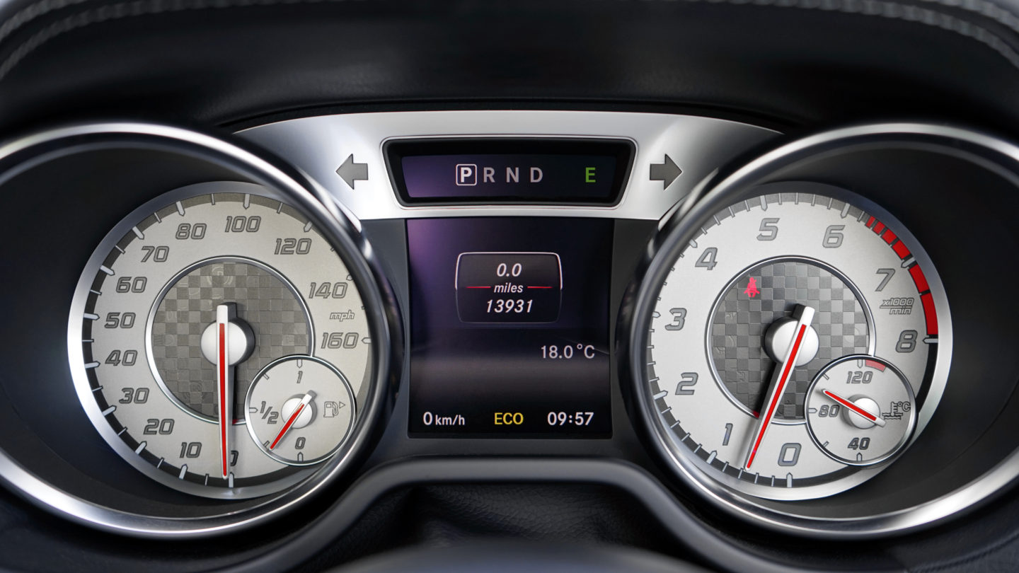 Check mileage on the vehicle's dashboard