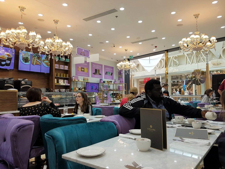 Interior of Creams British Luxury Bluewater, Kent