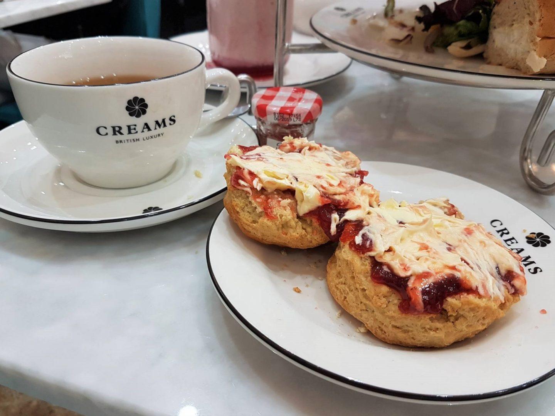 Jam first on a cream tea