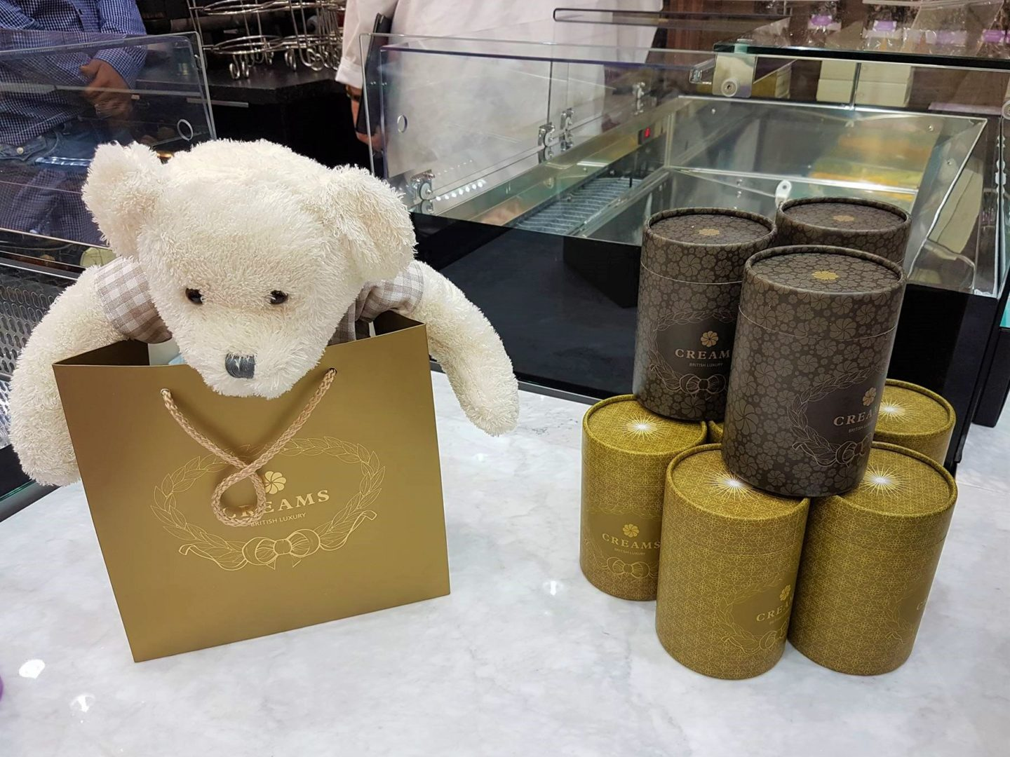 Teddy gift at Creams British Luxury