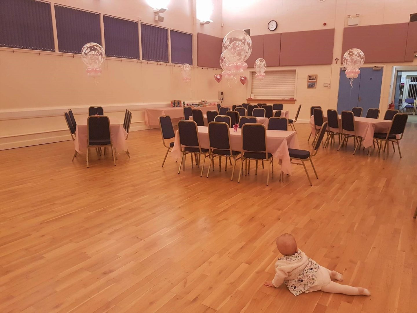 Parish Hall decorated for christening