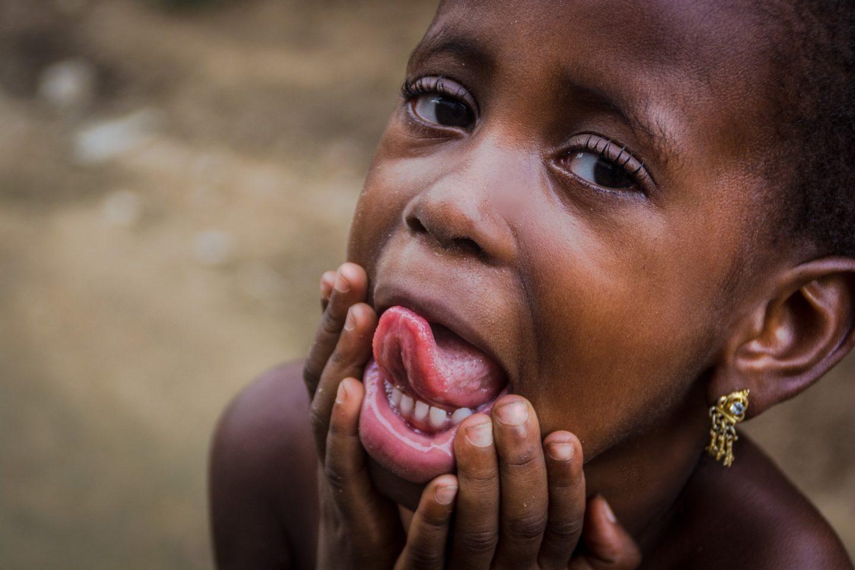Young Nigerian Girl Pierced Ears
