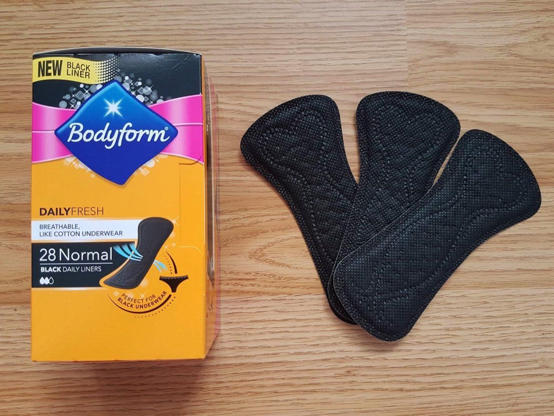 Black Bodyform pantyliners