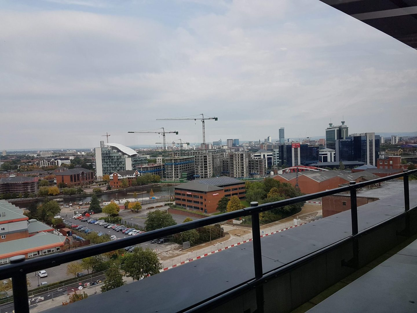 View over Manchester from Hotel Football
