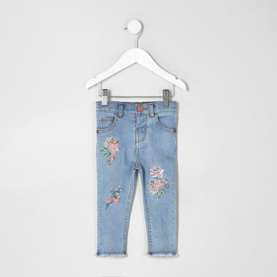 Blue Amelie Embroidered Jeans