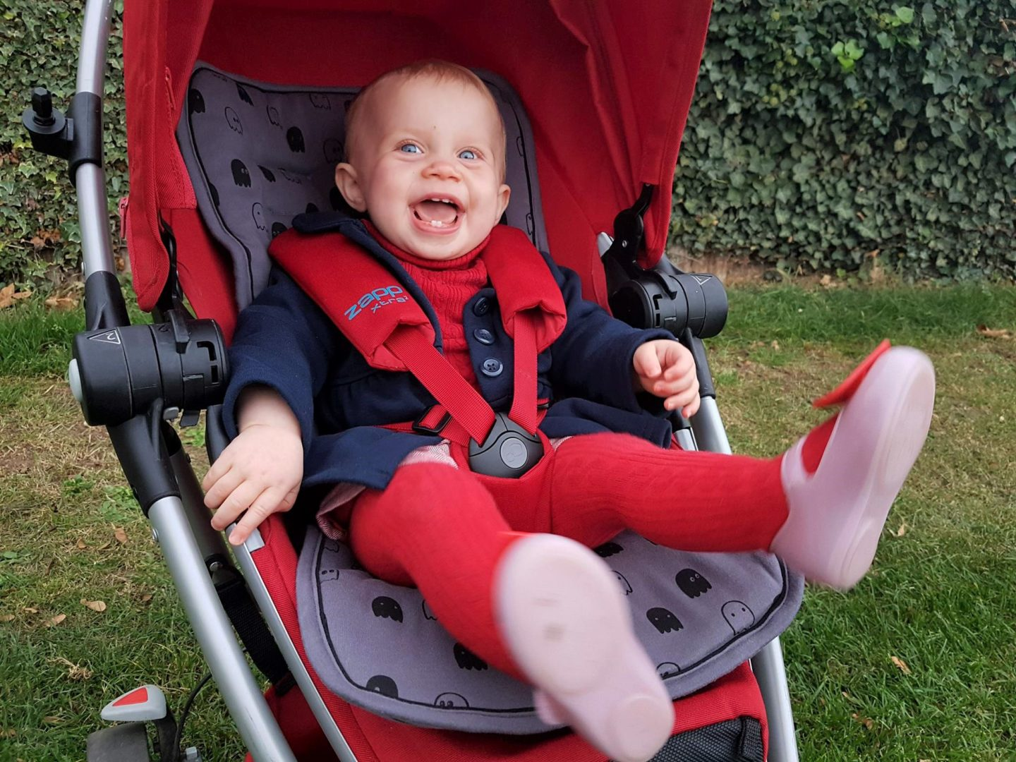 Minene grey pushchair liner - happy customer