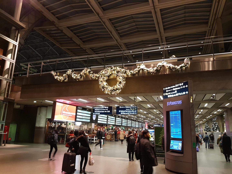 St. Pancras International, Christmas 2017