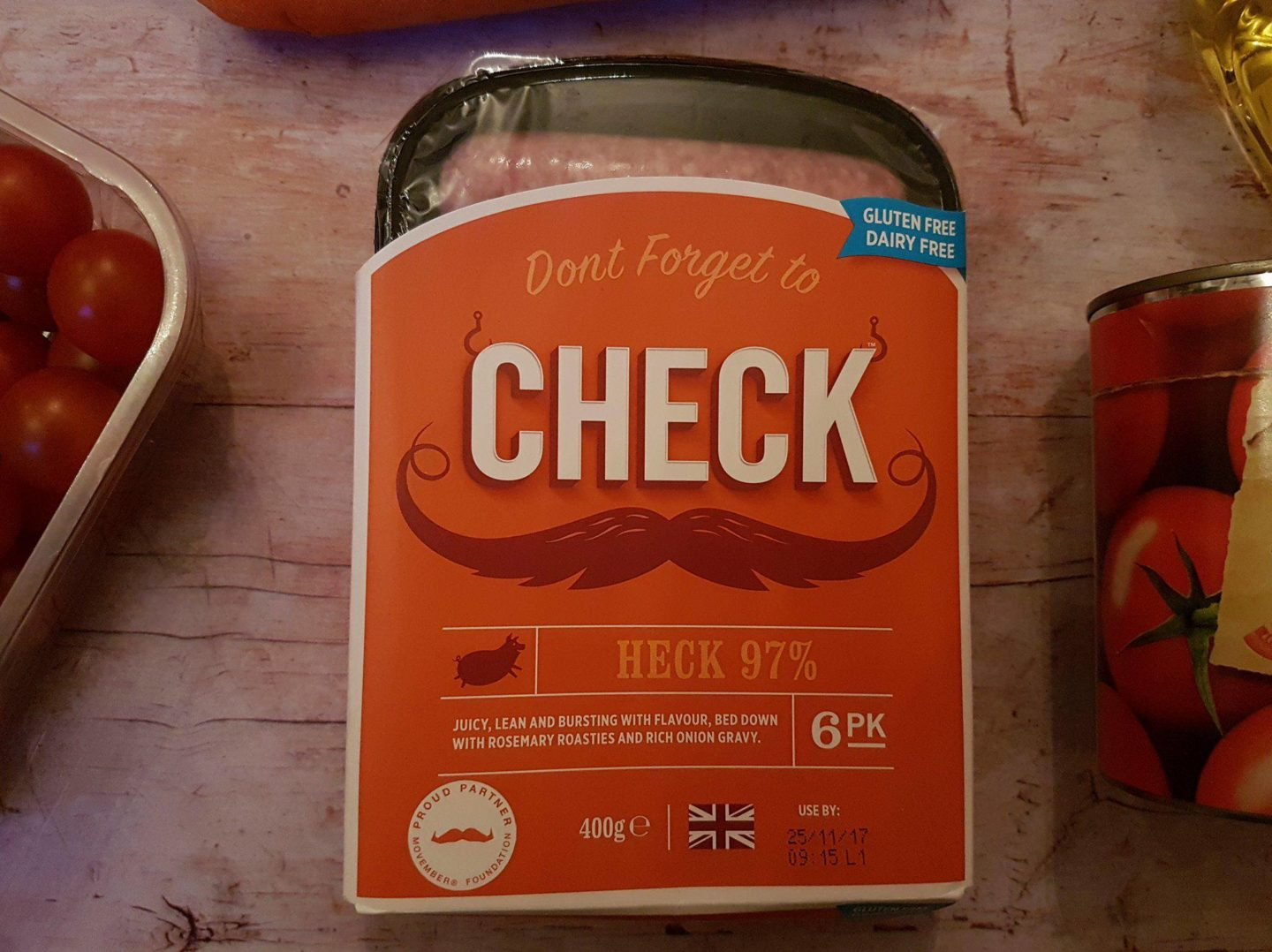 CHECK Heck sausages, Movember