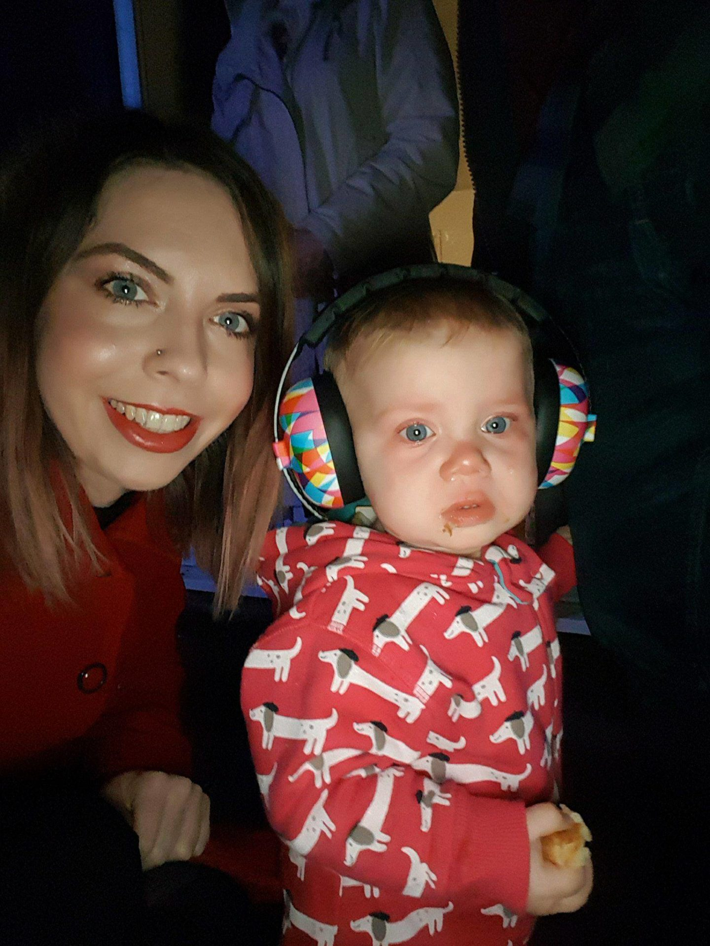 First fireworks, ear defenders