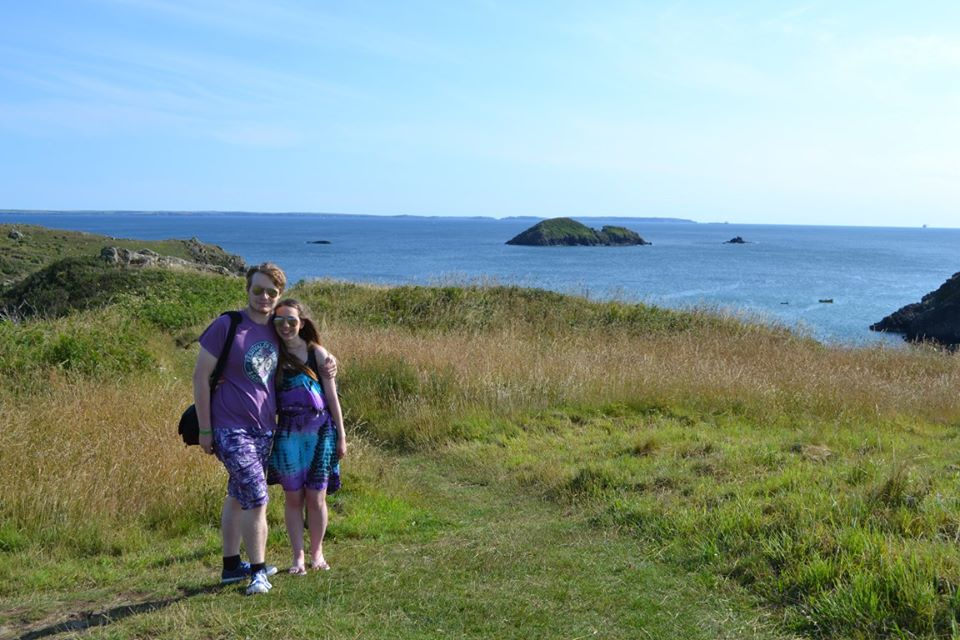 Our honeymoon. Cliff top in Solva, Pembrokeshire