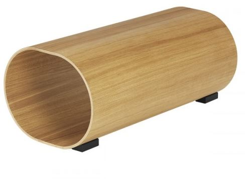 Contemporary Oak Veneer Swedese Stool