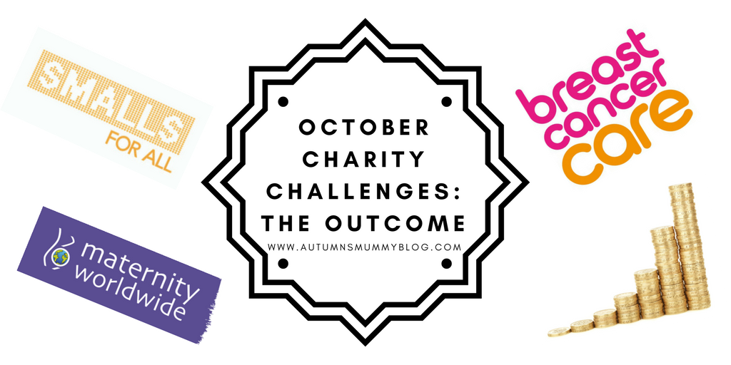 October Charity Challenges: The Outcome