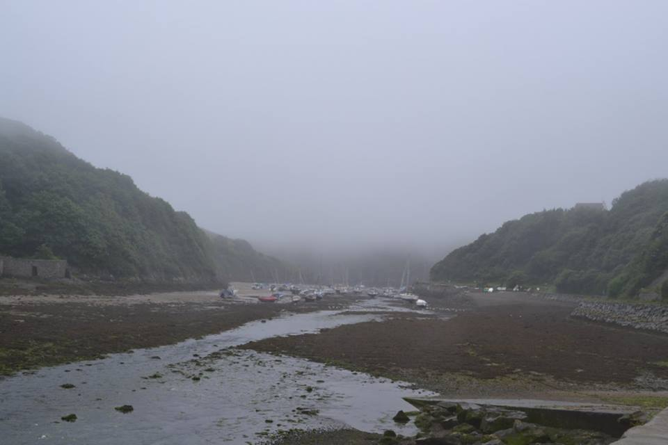 Solva, Pembrokeshire in the fog