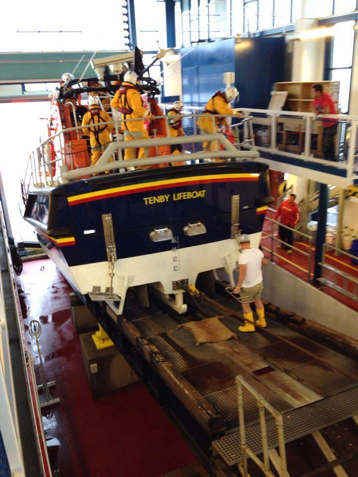 Tenby Lifeboat Launch internal