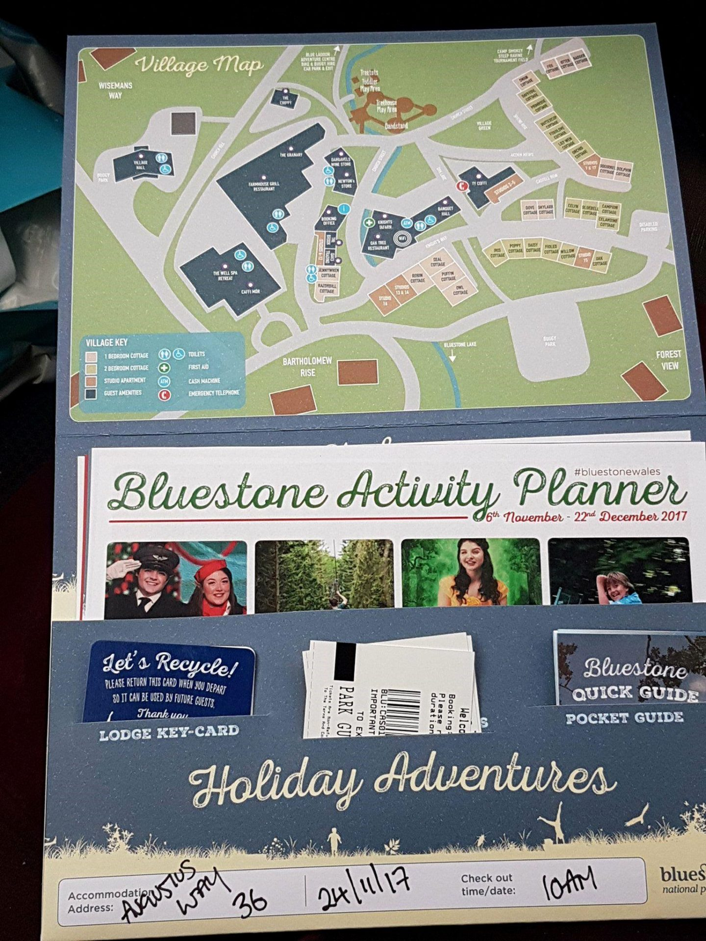 Bluestone welcome pack