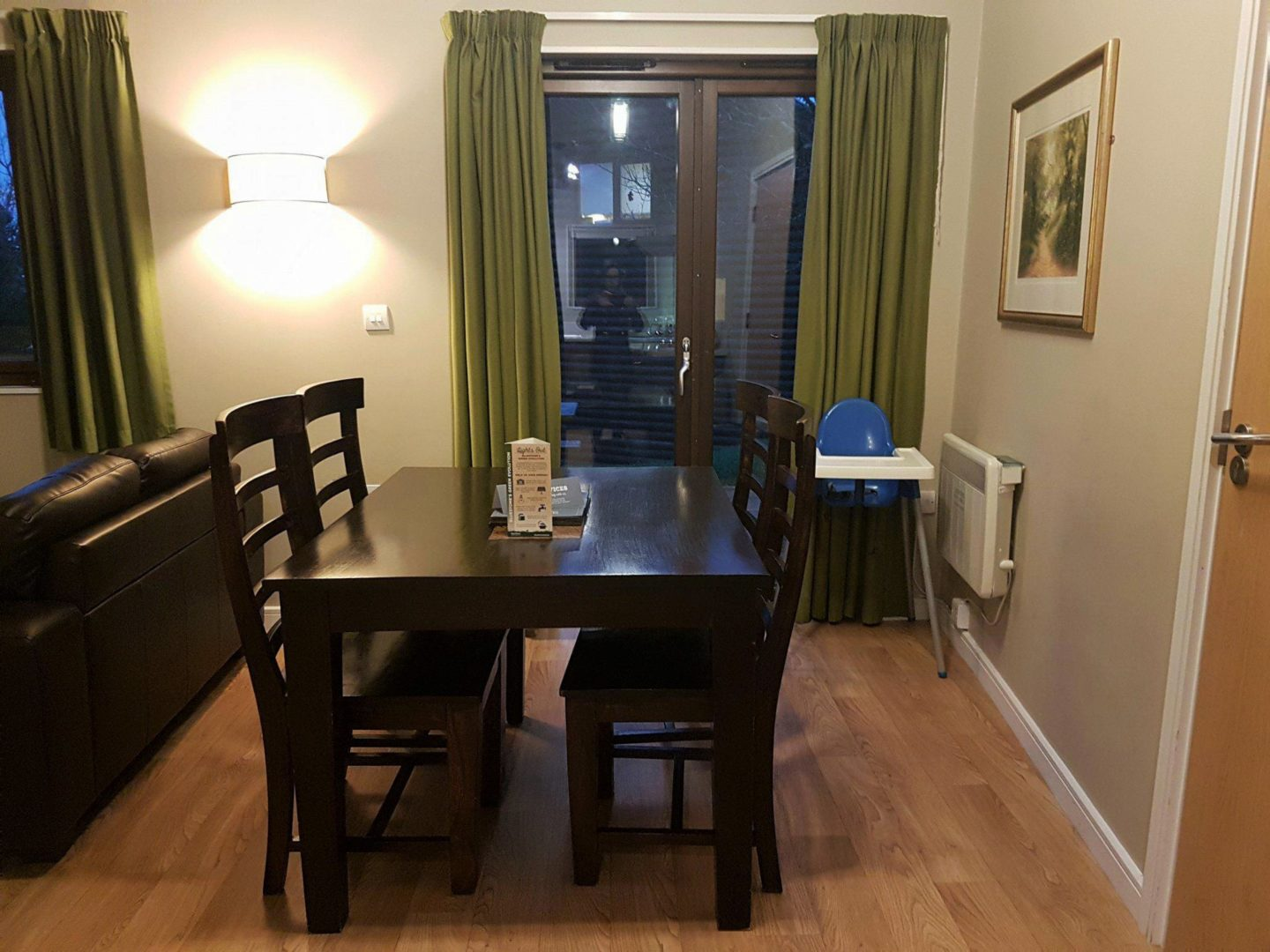 Caldey Lodge dining area, Bluestone