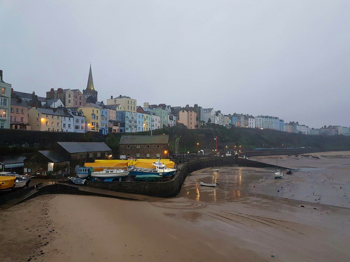 Tenby, Pembrokeshire in November