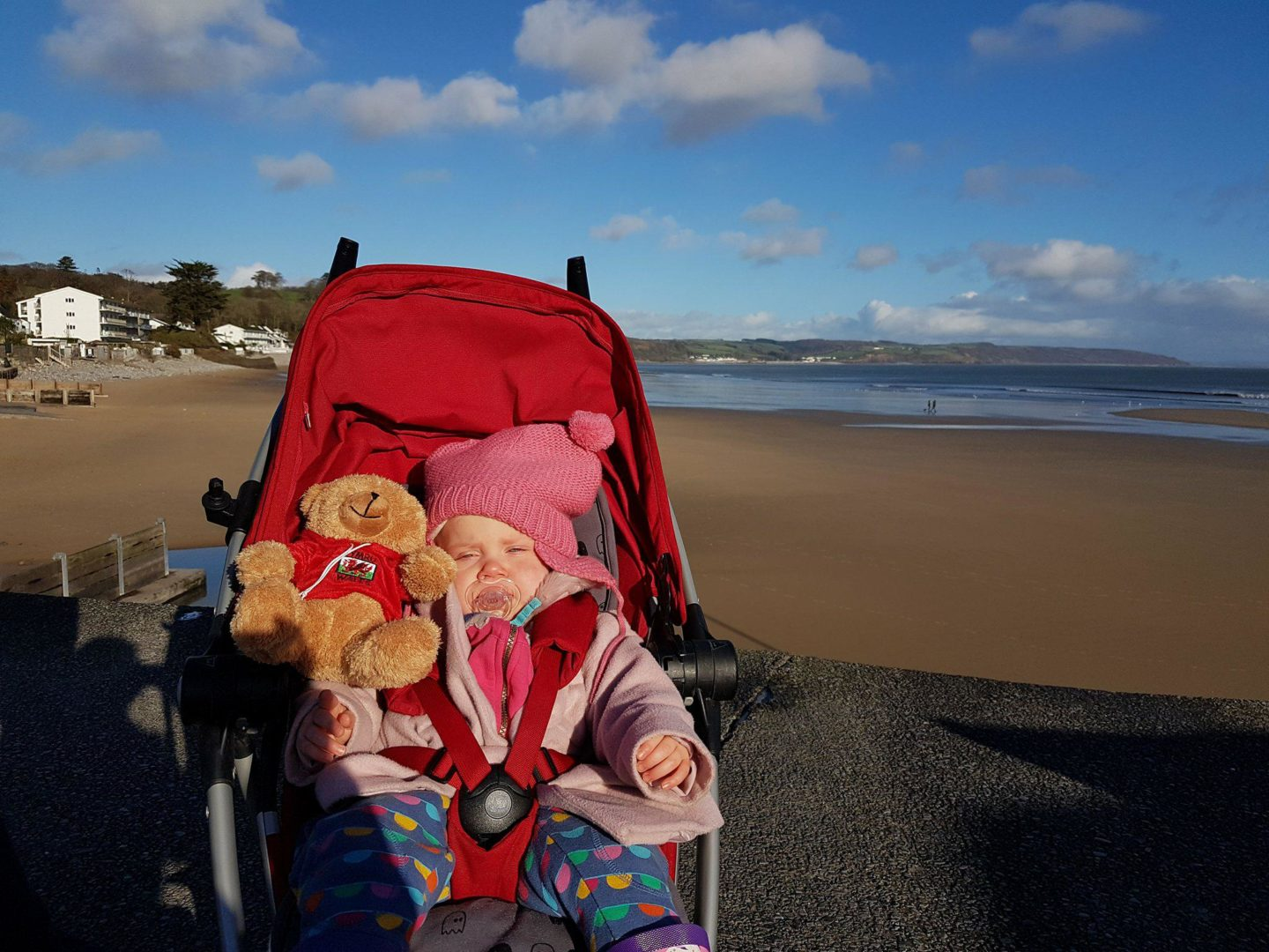 Bryn bear and Autumn, Saundersfoot
