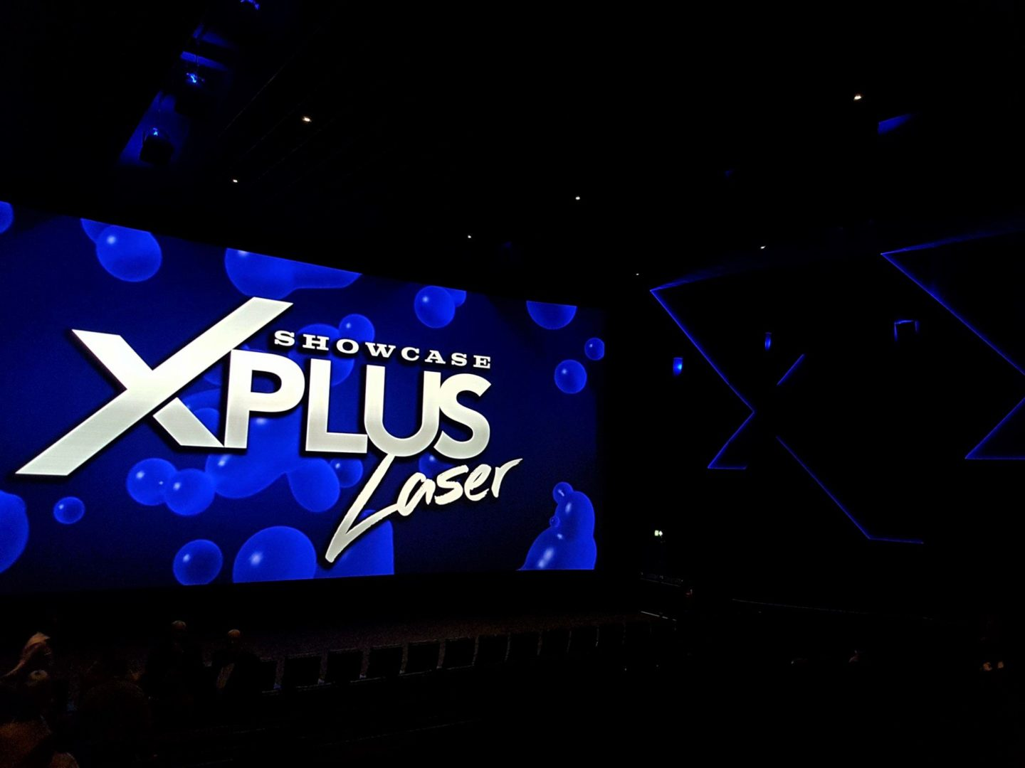 XPlus Laser screens, now at Showcase Cinema de Lux Bluewater