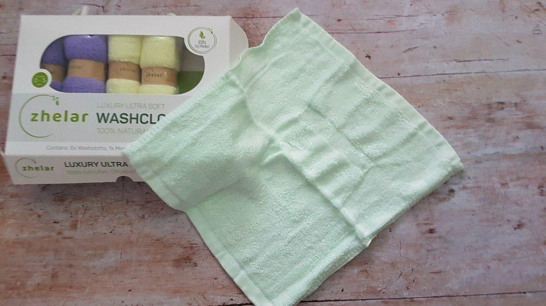 Zhelar organic bamboo washcloth