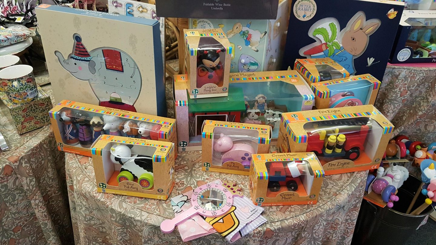 Wooden children's toys at Munns of Gravesend