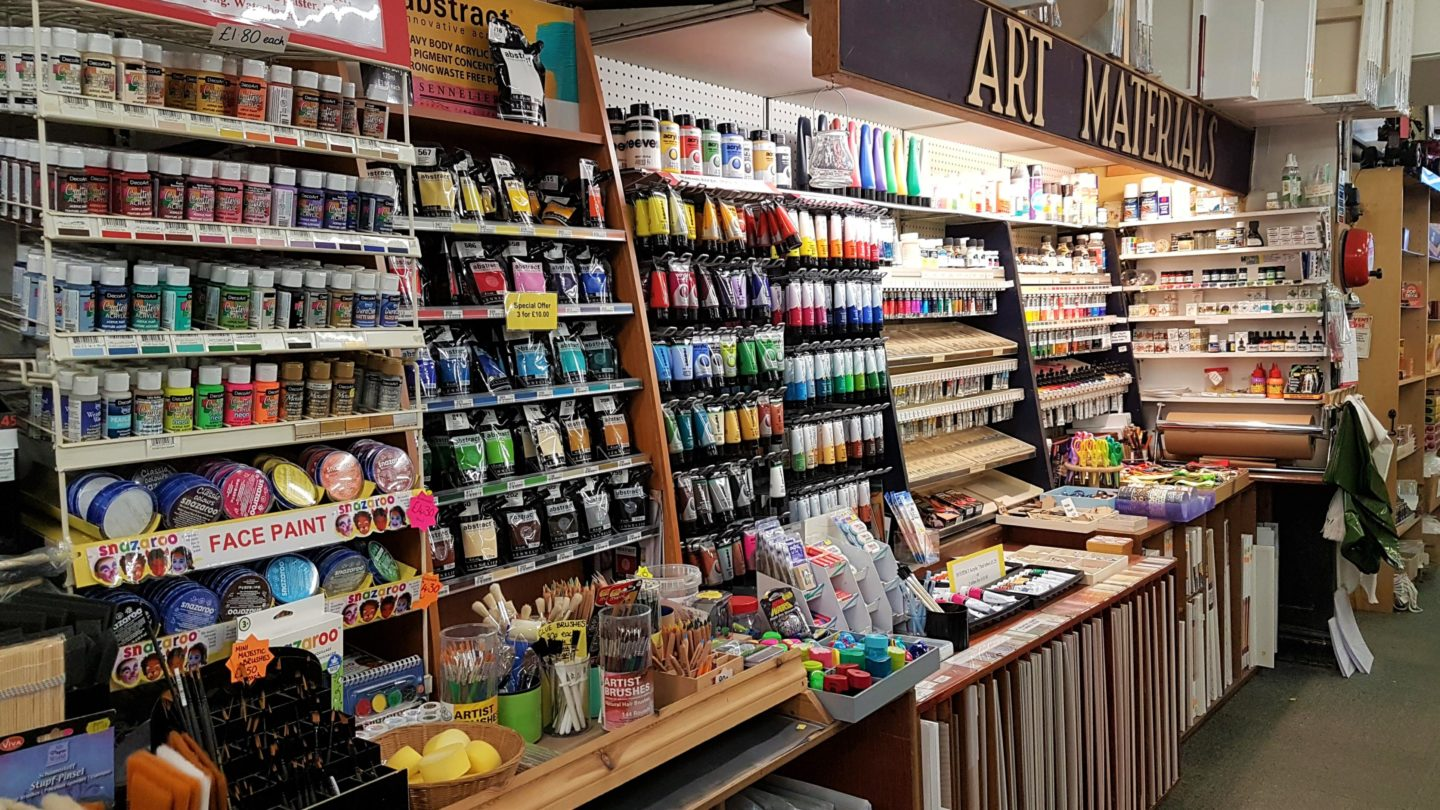 Paint materials at Munns of Gravesend
