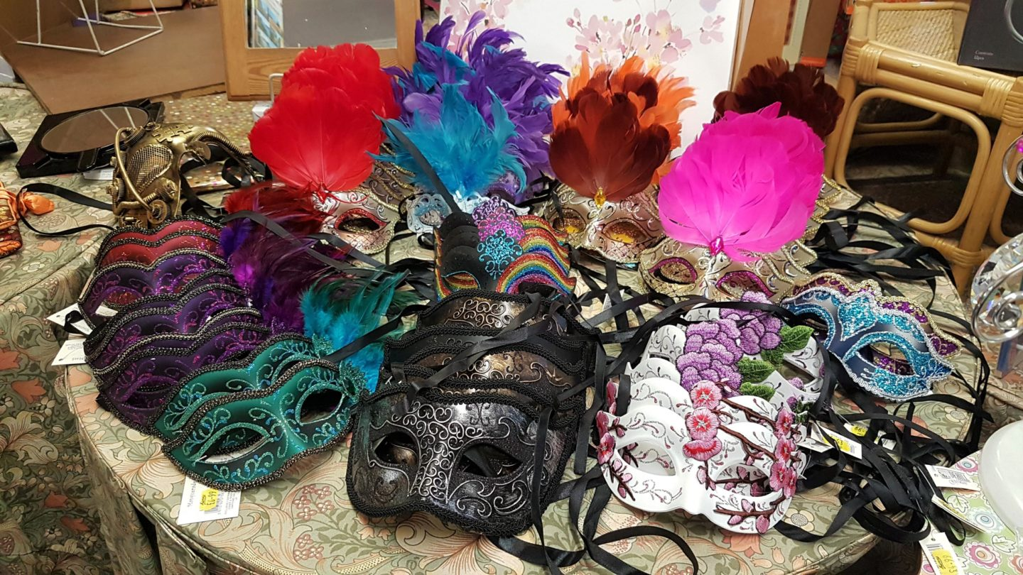 Masquerade ball masks, Munns of Gravesend