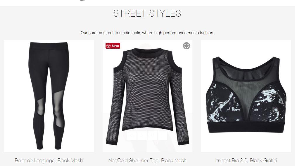 HPE activewear