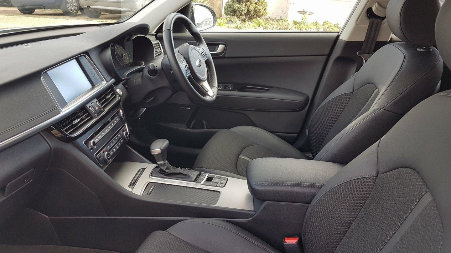 Interior of Kia Optima Sportswagon