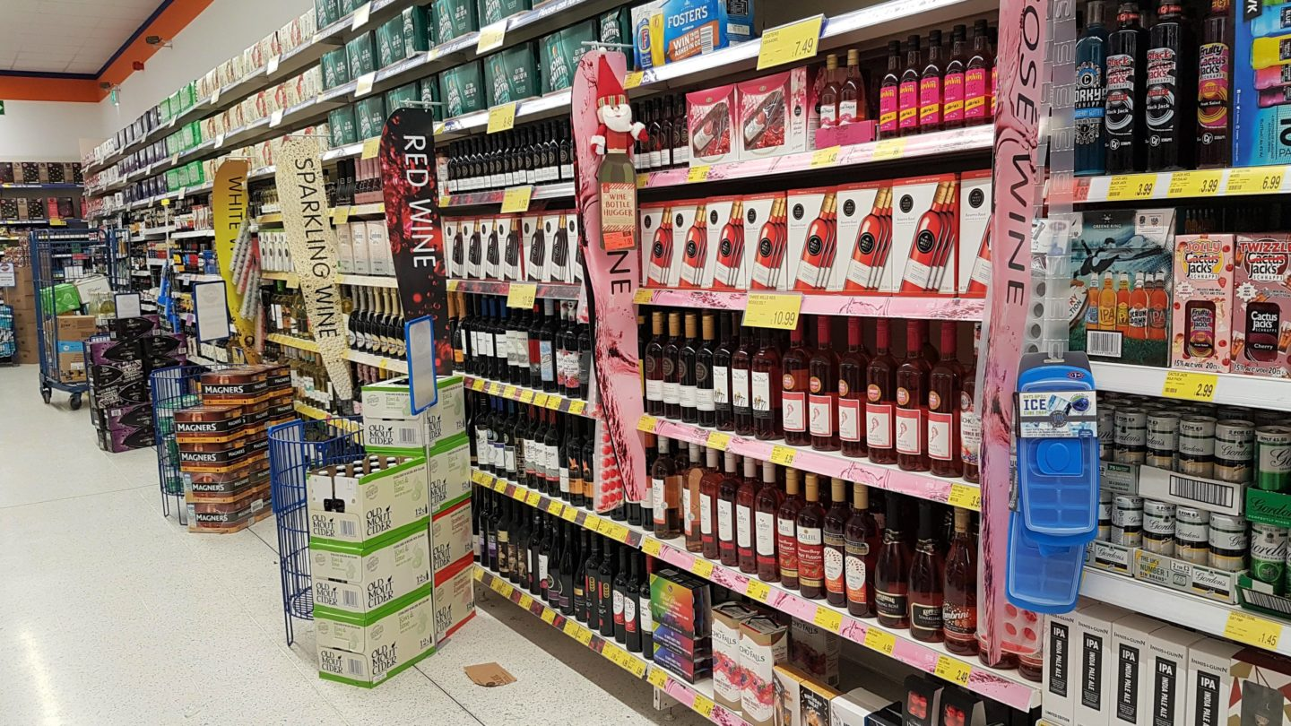 White, red and rose wine at B&M stores