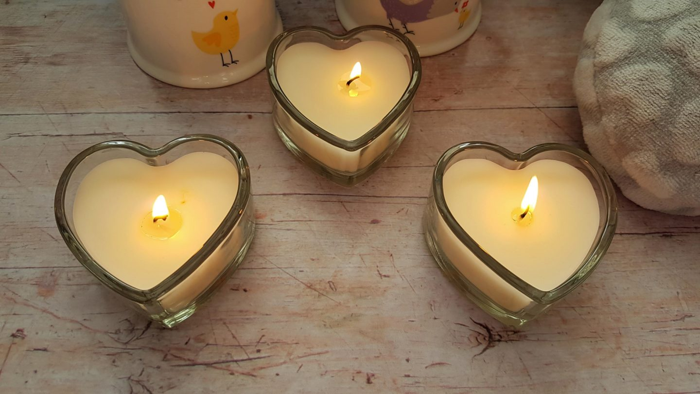 B&M Stores jasmine heart votive candles