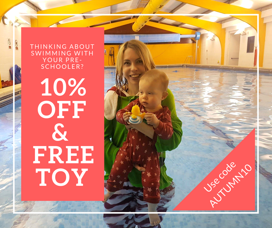 10% OFF & FREE TOY discount for Puddle Ducks baby and toddler swimming lessons in Strood, Chatham, Gillingham, Medway, East Kent including Dover, Ashford, Ramsgate, Folkestone, Faversham, Dymchurch and Ramsgate