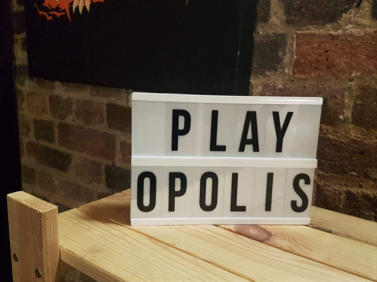 Playopolis light box - review of board game cafe in Rochester, Kent