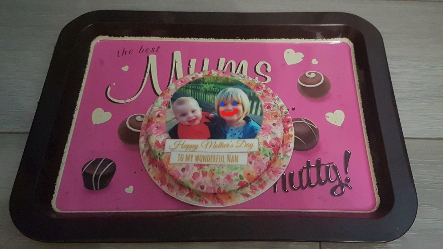 Bakerdays personalised Mother's Day cake