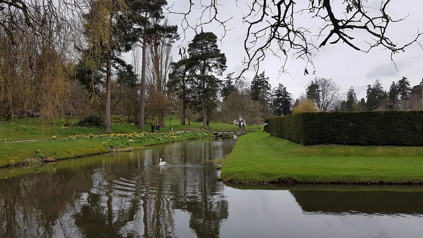 The moat at Hever Castle