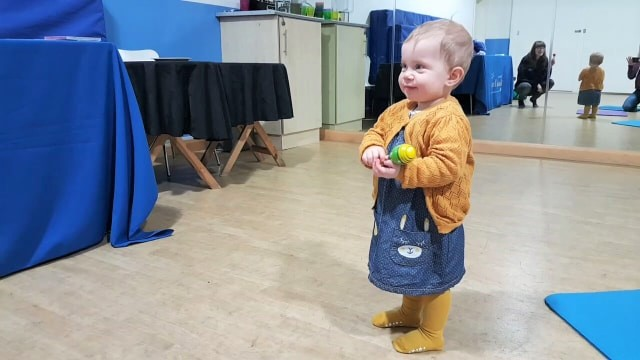 Autumn enjoying her Musical Bumps class