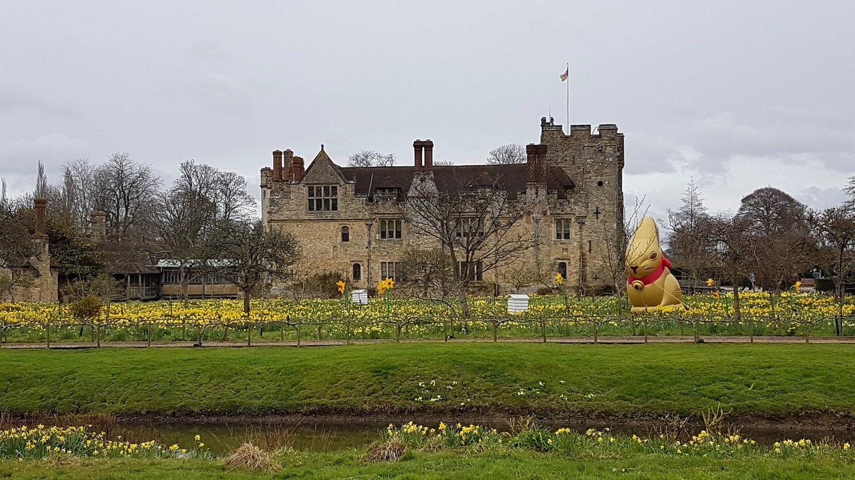 Golden Lindt bunny at Hever Castle, Kent, Easter 2018