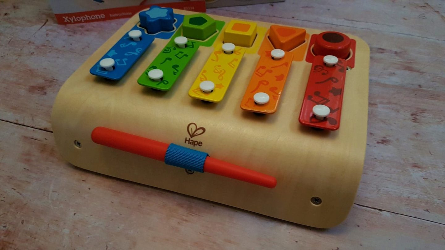 Toddler and young children's xylophone and shape sorter