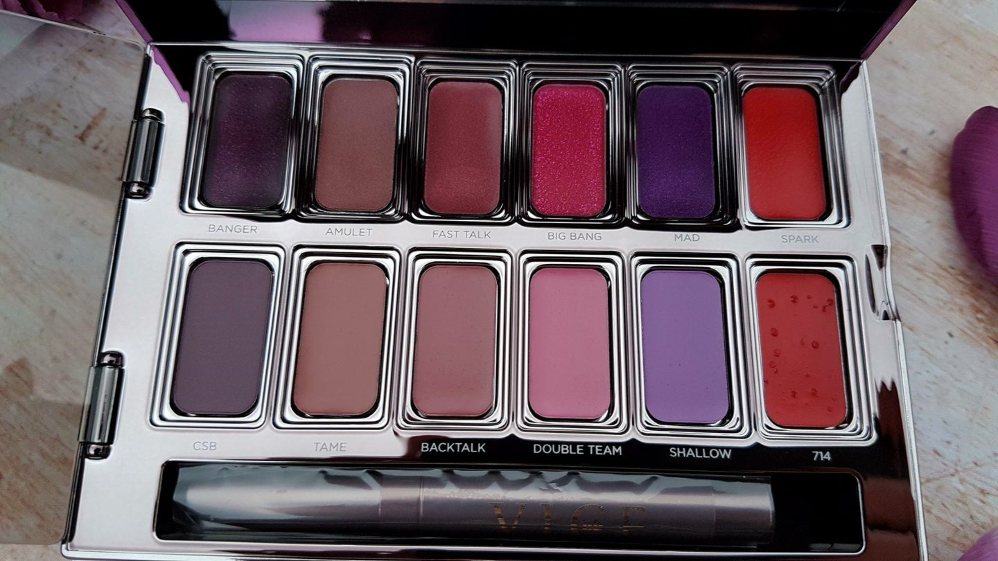 Names of Urban Decay Vice Lipstick Palette