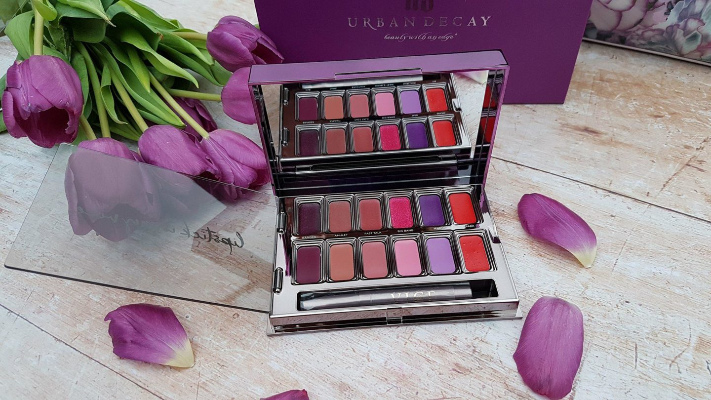 Urban Decay pink, purple, red and nude palette